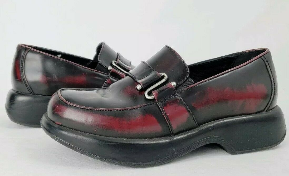 Dansko 39 Women's Slip On Clogs Oxblood Burgundy Leather shoes Sz US 8.5-9