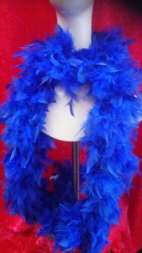 Royal Blue Feather Boa Flapper Fancy Dress 1920s Burlesque Costume Accessory 80g