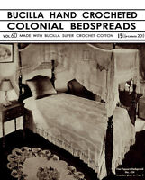 Bucilla 60 C.1932 Vintage Patterns To Make Hand Crochet Bedspreads Repro