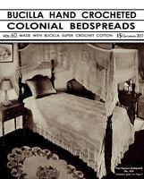 Bucilla 60 C.1932 Vintage Patterns To Make Hand Crochet Bedspreads Repro