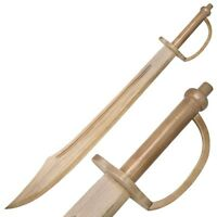 """30"""" Plunderer Pirate Cutlass Wooden Practice Cosplay Training Practice Sword"""
