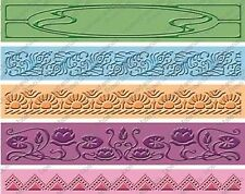 5pc NOUVEAU BORDERS Embossing Folders For Cricut Cuttlebug Die Cut Machine