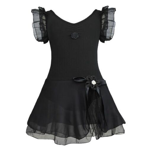 Kids Girls Ballet Dress Tutu Leotard Skirt Dance Gymnastics Outfit Fancy Costume