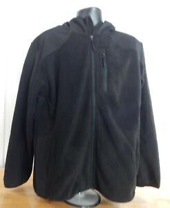 USED-Men-039-s-Rebok-Full-Zip-Hooded-Mixed-Media-Fleece-Jacket