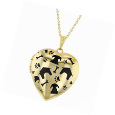 In Season Jewelry My Dog Paw Prints Animal Love Photo Pendant Heart Locket Necklace 19