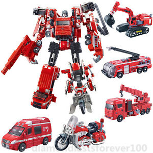 WeiJiang Action Figures Robot Digger Fire Truck Crane Motorbike Ambulance New