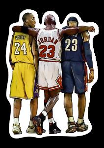 Kobe Bryant Michael Jordan And Lebron James Bumper Tablet Computer Sticker Ebay