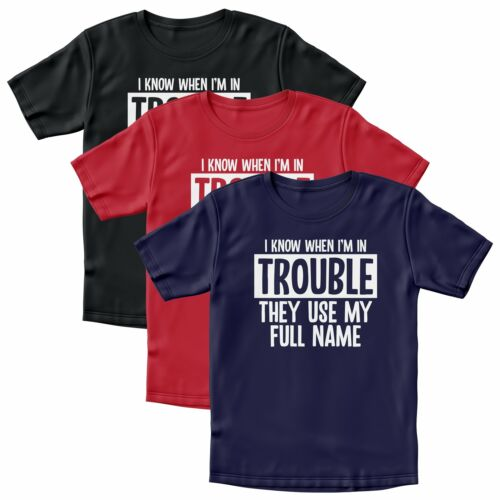 I Know When Im In Trouble Tshirt Gifts For Boys Girls Birthday Present Funny Tee
