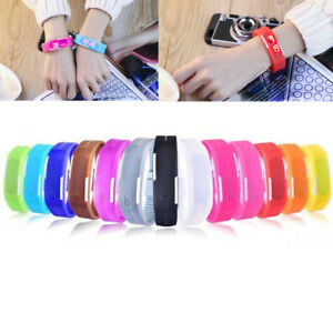 Touch Screen Led Silicone Sport Men Women Couples Bracelet Digital