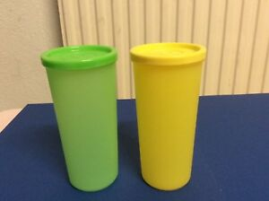 6d15871a4f2 Image is loading Tupperware-Cutie-Tumblers-Set-of-2-Yellow-amp-