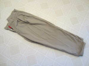 Womens Ll Bean Size 16 Petite Flannel Lined Khaki Pants