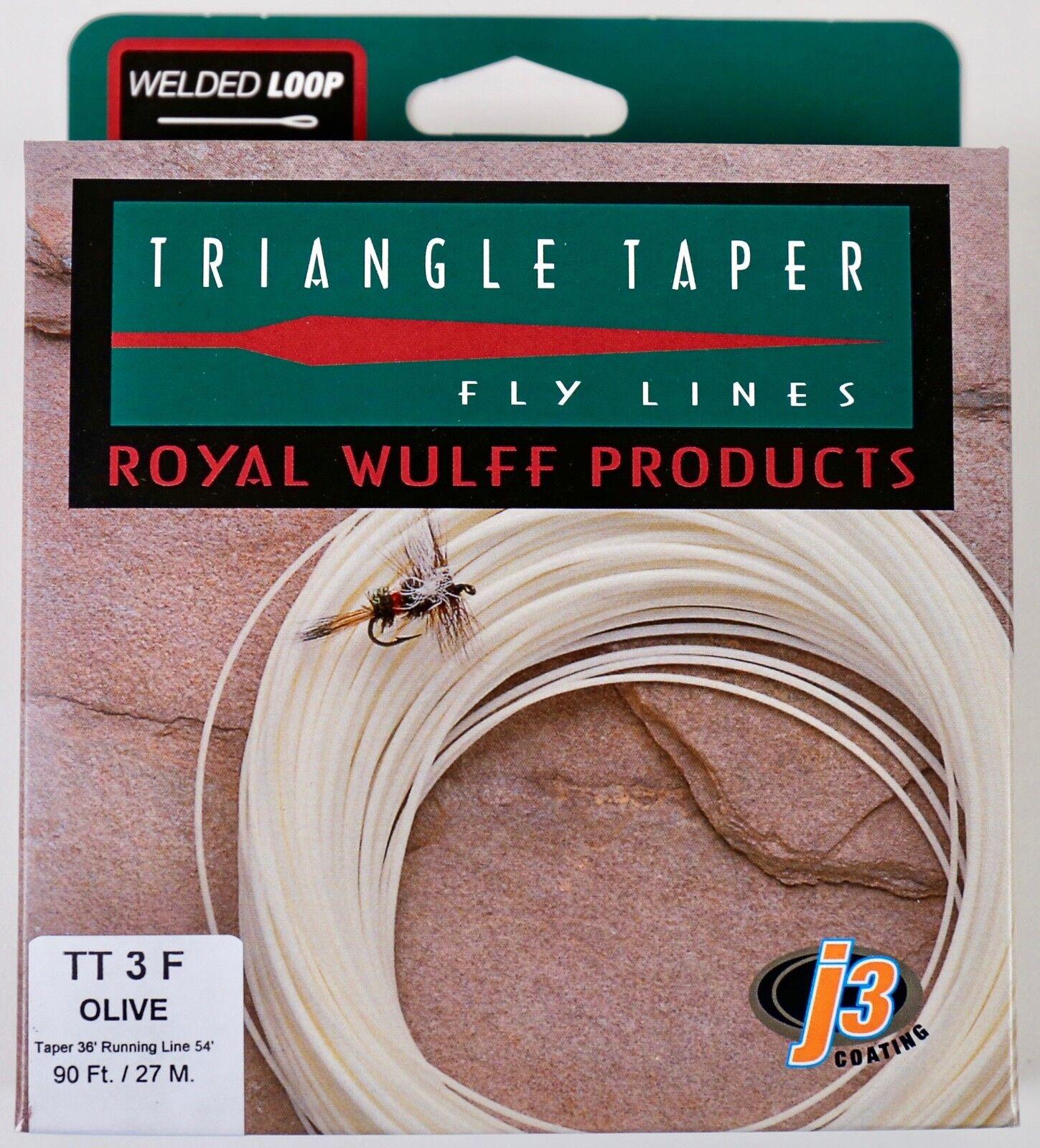 Royal Wulff Triangle Taper 4 WT Flotante Fly Línea Oliva Envío Gratis Rápido TT4FG