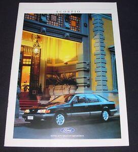 Auto Prospekt Katalog Ford Scorpio Stand November 1988! - Wilhelmshaven, Deutschland - Auto Prospekt Katalog Ford Scorpio Stand November 1988! - Wilhelmshaven, Deutschland