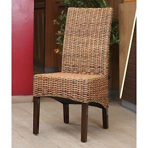 Java Rattan Dining Chair Salak Brown EBay