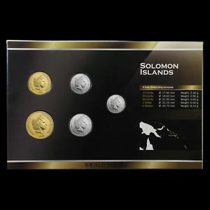 1988-2010 Solomon Islands 1 Cent-1 Dollar Coin Set Unc SKU #87161