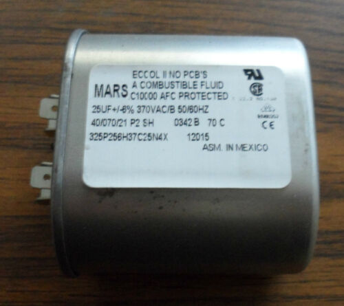 MARS MOTOR RUN CAPACITOR 370VAC  PART NUMBER 12015