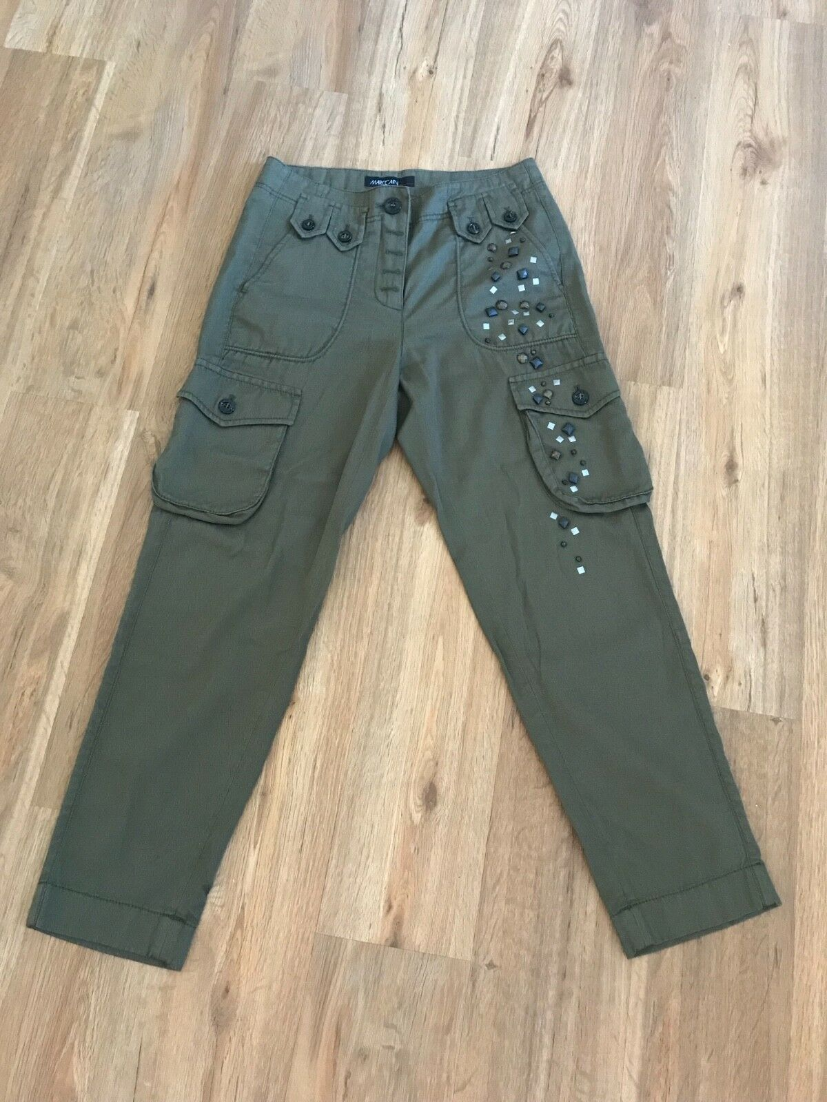 Marc Cain Cargo Trousers Größe n1 Olive Grün