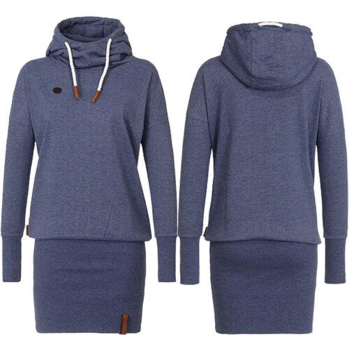 Womens Hooded Sweatshirt Hoodies Dress Long Sleeve Pullover Jumper Sweater Tops