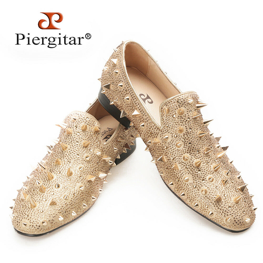 negozio outlet PIERGITAR New Man's Slippers Slippers Slippers Loafers Flat With Spikes and rosso Bottom Dimensione 514.5  sport dello shopping online