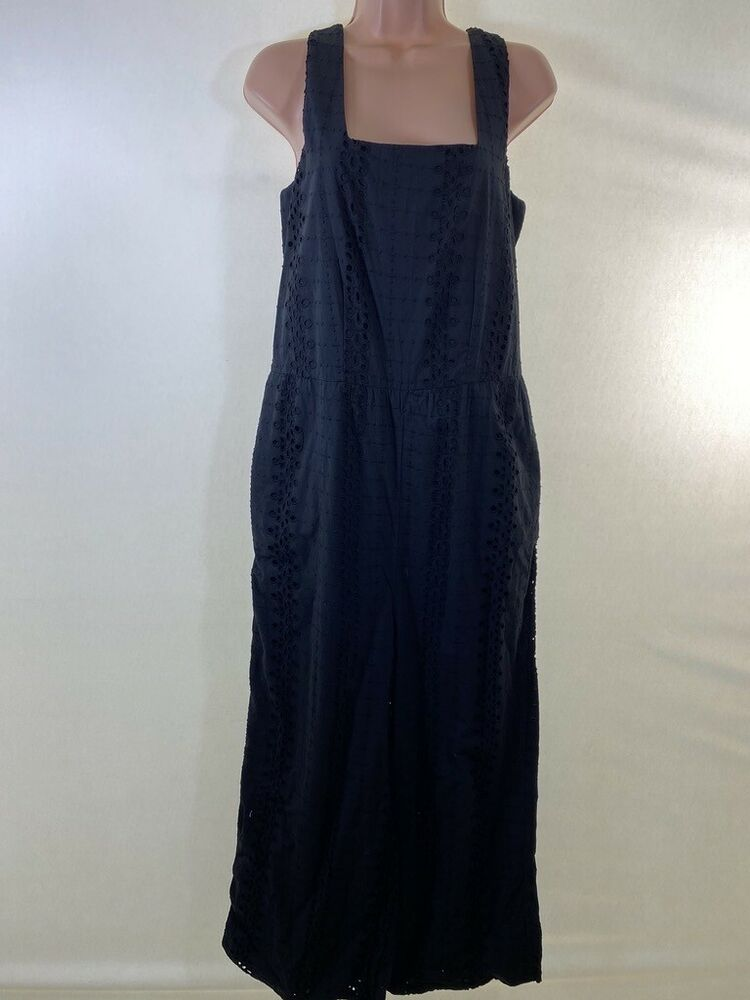 Bnwt Next Noir Broderie Anglaise Broderie Jupe Culotte Combinaison Taille 12 Euro 40 £ 50