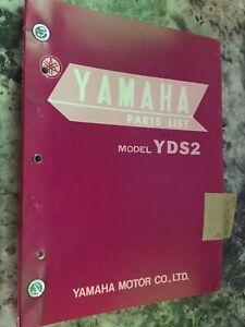 Yamaha Yds2 Motorcycle Parts List Manual Bx1 34 Ebay