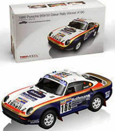 TRUE SCALE MINIATURES 121807R Porsche 959 resin rally car Winner Dakar 1986 1 18