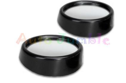 Black car blind spot miroirs convexe sécurité voiture van tracter remorquage Caravane REVERSE x2