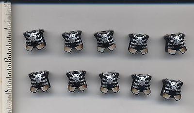 LEGO x10 Black Minifig, Armor Breastplate with Leg Protection Fantasy Era castle