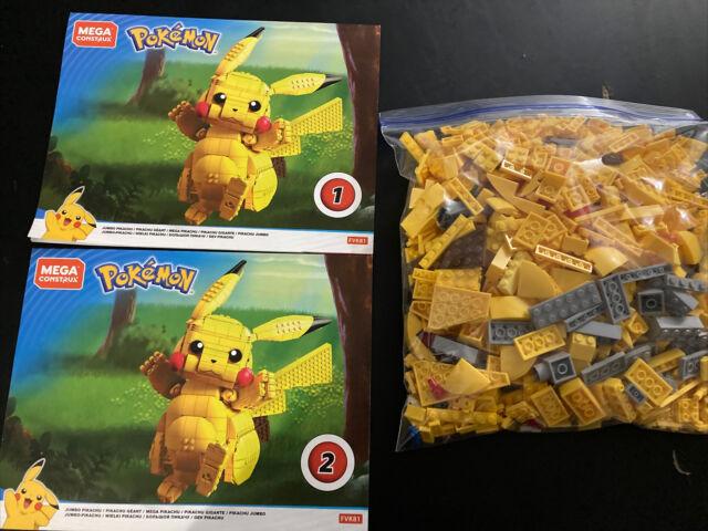 Mega Construx Pokemon Jumbo Pikachu Set Instructions And Pieces Not Complete