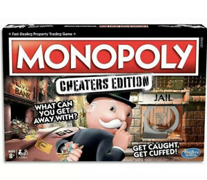 MONOPOLY-Cheaters-Edition-Kids-amp-Adult-Board-Game-Ages-8-Hasbro-NEW-in-BOX-Tr