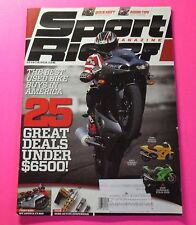 SPORT RIDER MAGAZINE OCT/2013...THE BEST USED BIKE BUYS IN AMERICA: 25 DEALS
