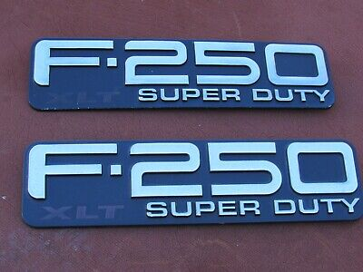 99-04 Ford F250 XL Super Duty Fender Emblem F81B-16B114-L Nameplate Logo Set