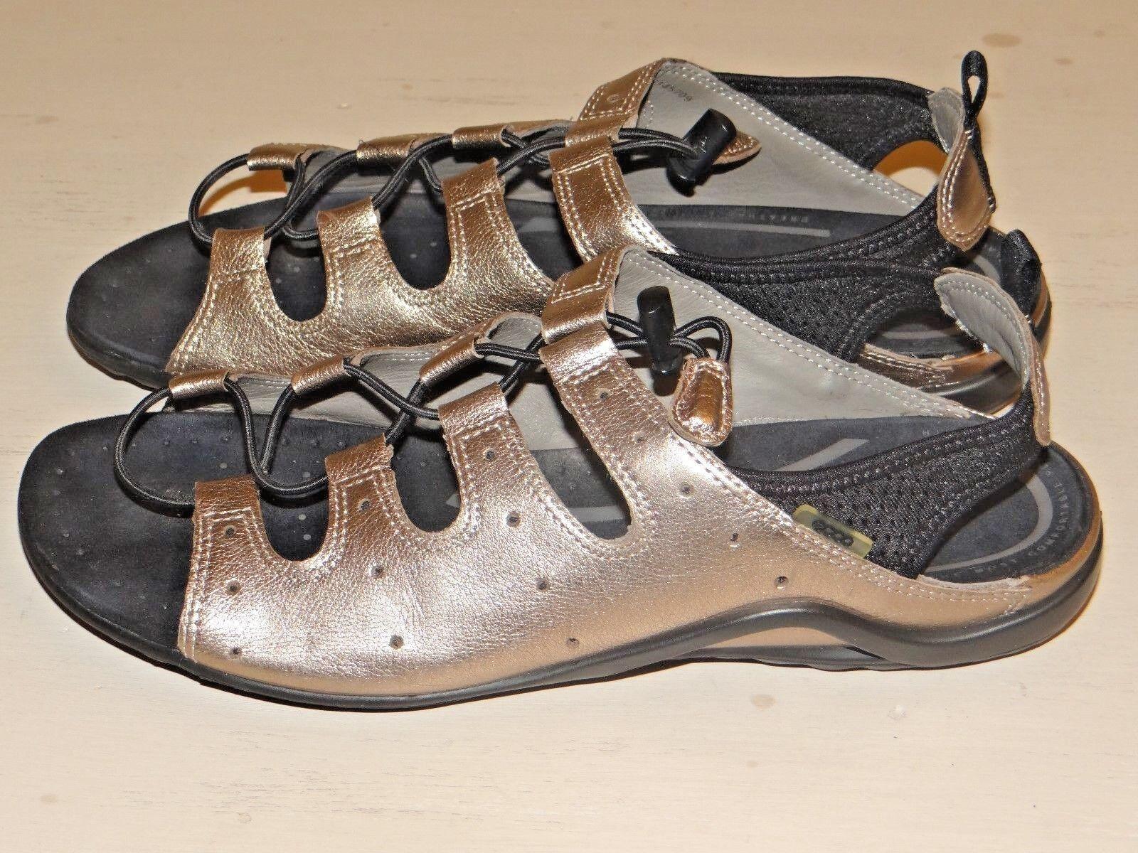 170  ECCO Adjustable Metallic Gray Gladiator Shoes Sandal   EUR 42   Sandal 10 10.5 2b8c00