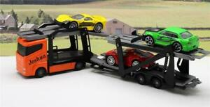 Personalised-Any-Name-Boys-Toy-Car-Transporter-Lorry-Truck-3-Cars-Boxed-Present