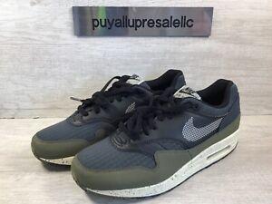 Men's Nike Air Max 1 SE 'Medium Olive' Olive Green Black AO1021-200 Size 8.5