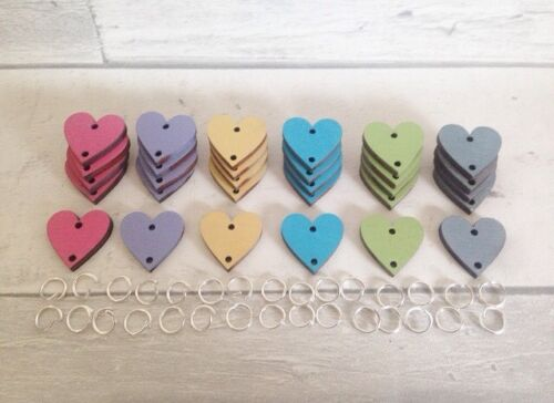 Celebrations Organiser 60 Extra Heart Disks Tags And Links For Birthday Boards