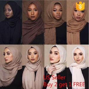 6x3-FT-Cotton-Women-Viscose-Maxi-Crinkle-Cloud-Hijab-Scarf-Shawl-Islam-Muslim