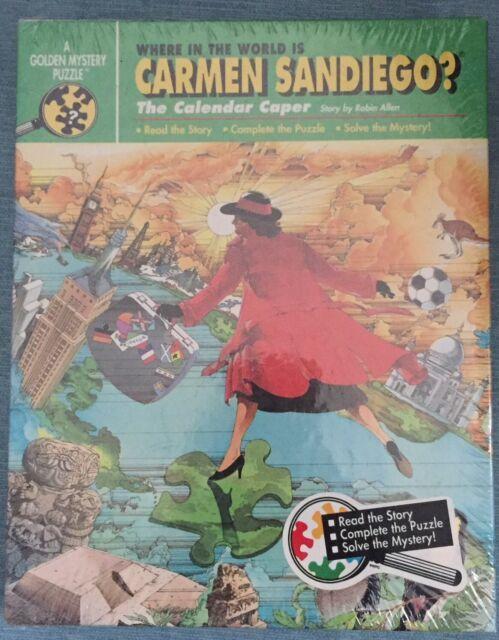 Where In The World Is Carmen Sandiego The Calendar Caper Mystery Puzzle 1991 NIP
