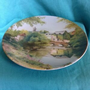 LIMOGES-FRENCH-COUNTRY-LANDSCAPES-COLLECTOR-PLATE-ALONG-THE-RIVERSIDE