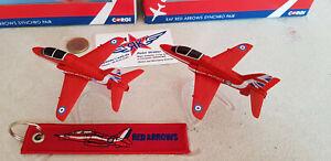 Red-Arrows-Set-BAe-Hawk-metal-modele-ferigmodell-yakair-ronds-Aircraft-CORGI
