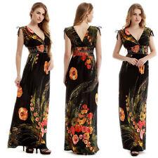 08a5e46e6a71 Plus Size Womens Summer Boho Maxi Long Dress V-neck Beach Evening Party  Sundress