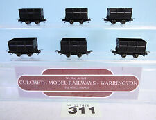 ROCO '009/HOe' RAKE OF 6 MINERAL WAGONS BLACK UNPAINTED UNBOXED #311
