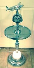 ART DECO DC3 + CLOCK TABLE SMOKE LIGHTED STAND