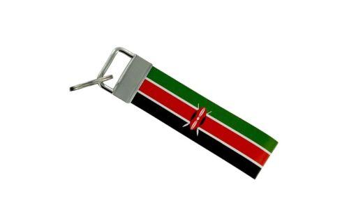 Keychain stripe key lanyard flag keyring ring car jdm band remote kenya