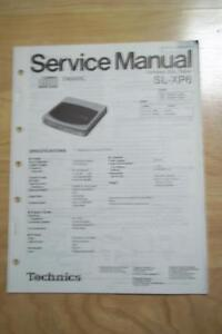 Technics Service Manual for the SL-XP6 CD Player