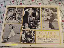 Pittsburgh Sports Memories Golden Moments 1981 Calendar Steelers Pirates