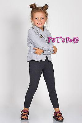 Kids Full Length Cotton Leggings Sizes 2 - 13 Years PLD