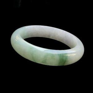 【KOOJADE】Icy Emerald Floral Jadeite Bangle Bracelet《54.5~56mm》《Grade A》