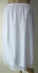 White-Half-Slip-Size-20-Cling-Resist-31-034-79cm-Lace-Soft-Lightweight-Underskirt