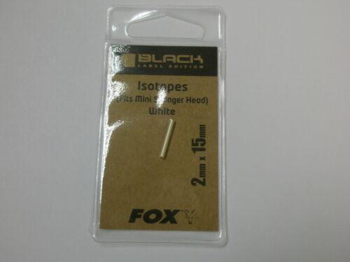 Karpfenangeln Ausrüstung für Mini Swinger Fox Black Label Isotope 2x15mm Weiß